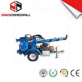 200M Protable Small Trailer Hydraulic Water Well Wiertnica Rig Borehole Drilling Equipment